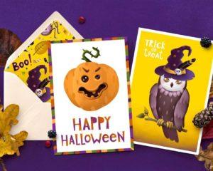 Halloween Postcard Printing Nyc 2